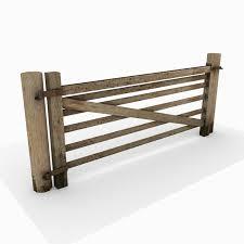 Wooden Fence Gate 3d Model