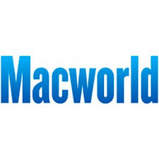 """Macworld"" written in blue letter on white background."