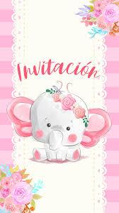 Tarjeta De Invitacion Digital A Baby Shower Nina En 2020
