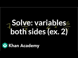 equation with the variable in the