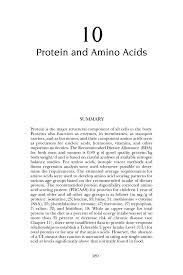 10 protein and amino acids tary