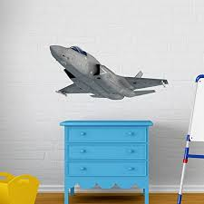 F 35 Fighter Jet Wall Decal Wall Sticker Vinyl Wall Art Home Decor Wall Mural Sd3034 16x10 Walmart Com Walmart Com