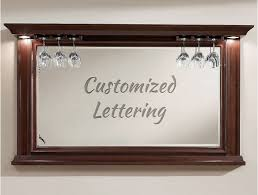 customized bar mirror lettering