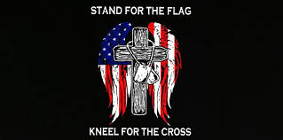 Stand For Flag Kneel For Cross Bumper Sticker Ruffin Flag Wholesale