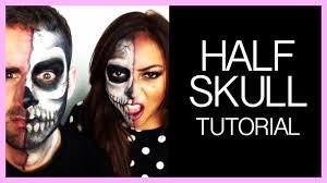 half skull make up tutorial