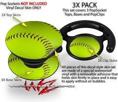Decal Style Vinyl Skin Wrap 3 Pack For Popsockets Softball Popsocket Not Included By Wraptorskinz Walmart Com Walmart Com