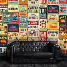 Ebern Designs Vintage Metal Sign Wall Decal Set Reviews Wayfair