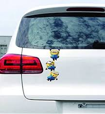 Amazon Com Adb Inc Despicable Me Minions 3d Cartoon Waterproof Stickers For Car Minions 01