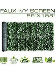 Colourtree Artificial Hedges Faux Ivy Leaves Fence Privacy Screen Panels Decorative Trellis 59 X 158 Artificial Hedges Decorative Trellis Paver Stone Patio