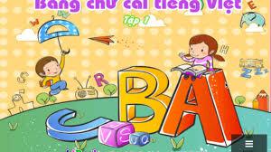 Dạy bé học - Bé tập đọc bảng chữ cái tiếng việt phần 1 - YouTube