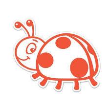 Cute Ladybug Vinyl Sticker Waterproof Decal Sticker 5 Walmart Com Walmart Com