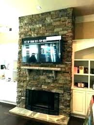 mounting on stone fireplace mount over
