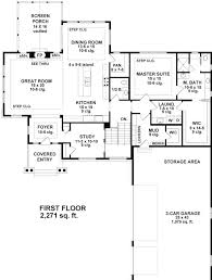 ranch style house plan with 4 bed 4