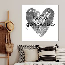 Shop Oliver Gal Gorgeous Salute Silver Typography And Quotes Wall Art Canvas Print Gray White Overstock 28633621 40 X 40