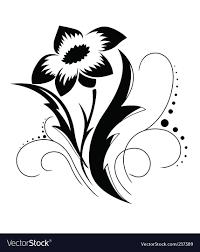 black a white flower pattern royalty