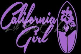 1 Color California Girl Vinyl Decal Sticker By Lilbitolove On Zibbet