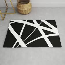 geometric line abstract black white