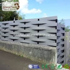 China Multiple Design Eco Residential Landscape Wpc Woven Wood Fence For Backyard China Composite Fence Wpc Fence