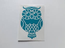 Owl Decal Bird Decals Decal For Laptop Yeti Decalsmug Etsy