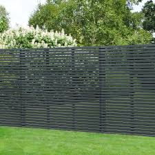 Contemporary Slatted Fence Panel