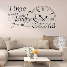 Time Spent With Family Is Worth Every Second Inspirational Wall Sticker Quote Living Room Home Vinyl Wall Art Decor Decal 03
