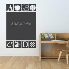 Abc Chalkboard Wall Decal Abc Wall Sticker Wallums