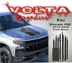 Vinyl Hood Decal Fits Chevy Silverado 2019 2020 Trail Boss New Distressed Flag Ebay
