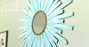 sunburst mirror an easy coastal diy