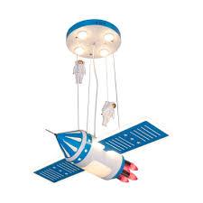 Red Blue Finish Airship Pendant Cartoon Led Metallic Chandelier Light Fixture For Kids Room Takeluckhome Com
