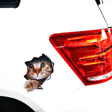 Volkrays Car Accessories 3d Simulation Cute Dog Cat Car Sticker Decal For Motorcycle Laptop Smart Polo Golf Audi Focus Bmw Mini Car Stickers Aliexpress