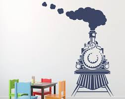 Train Wall Decal Etsy
