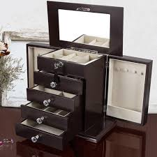 wooden jewelry box locked