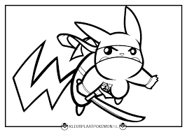 Pikach Kleurplaten