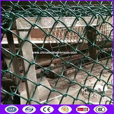 Pvc Coated 80x80 Opening Chain Link Fence Post Spacing For Architecture In Green Color For Sale Diamond Wire Mesh Manufacturer From China 107802012