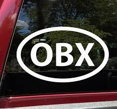 Obx Vinyl Decal Outer Banks Nc North Carolina Hatteras Nags Head Euro Oval Die Cut Sticker