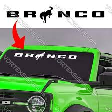 Sale 2021 Ford Bronco Windshield Sign Decals Stickers Online