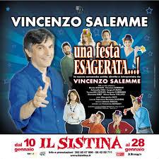 Una festa esagerata, lo spettacolo di Vincenzo Salemme al Teatro ...