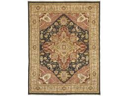 jinan serapi brown saffron area rug