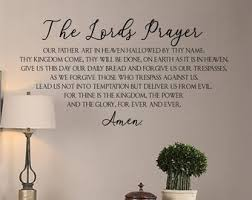 Lords Prayer Decal Etsy
