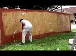 Techniques Idea How To Paint A Wood Fence In Less 5 Minutes Youtube
