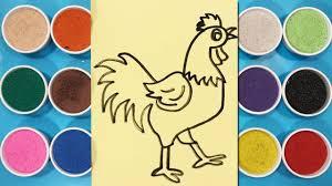 Đồ chơi trẻ em TÔ MÀU TRANH CÁT CON GÀ TRỐNG - Learn colors with sand  painting toys (Chim Xinh) - YouTube
