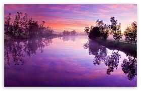 purple river reflection ultra hd