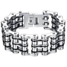 Felix Perry Men's Heavy Biker Motorcycle Chain Link Bracelet Stainless  Steel Silver Polish… | Mens jewelry bracelet, Bracelets for men, Stainless  steel bracelet