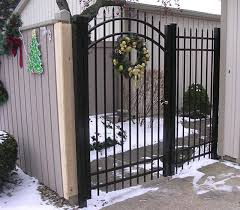 Custom Arched Ornamental Aluminum Fence By Elyria Fence