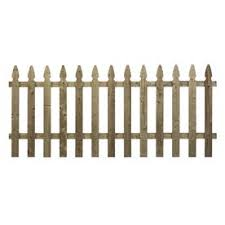 Shop Wood Fencing Spaced Picket French Gothic 42 X 8 Pressure Treated At Lowes Com Wood Fence Fence Panels Wood Picket Fence