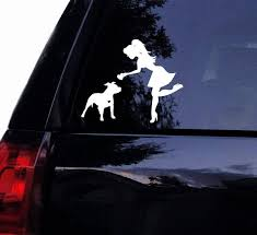 Sassy Pit Lady Loves Her Floppy Ear Pitbull Decal Vinyl Car Decal Laptop Decal Car Window Wall Sticker 15x12 Cm White Wish