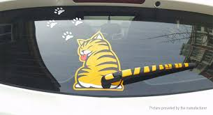 2 54 Free Shipping Cat Moving Tail Reflective Car Window Wiper Decoration Decal Sticker Yellow At M Fasttech Com Fasttech Mobile