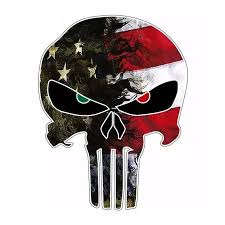 2pcs Universal 10 8 14cm Car Sticker Creative Usa Flag For Camo Small For Punisher Skull Reflective Letter Car Sticker Decals Stickers Aliexpress