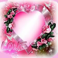 Montaje fotografico Love corazón con rosas - Pixiz
