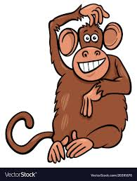 funny monkey character cartoon
